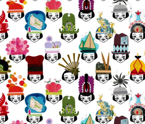 loosetooth_fancyhats fabric by loosetooth on Spoonflower - custom fabric