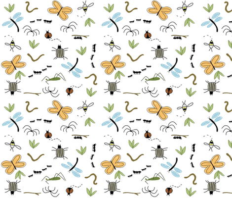 backyard bugs fabric by emilyb123 on Spoonflower - custom fabric