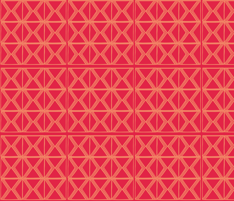 AfroModern No.3 (Red Pepper)  fabric by angela_williams_art+design on Spoonflower - custom fabric