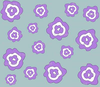 Flower Power - Purple & Blue