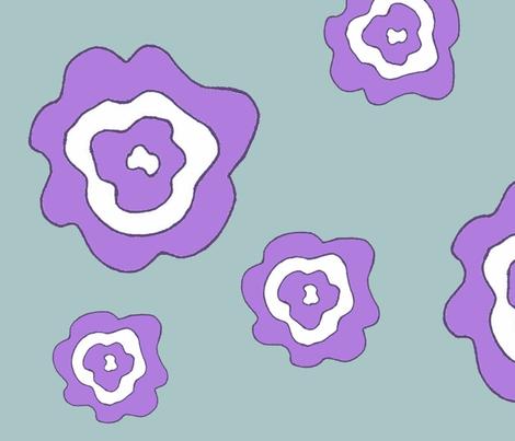 Flower Power - Purple & Blue fabric by dapple_gray_designs on Spoonflower - custom fabric