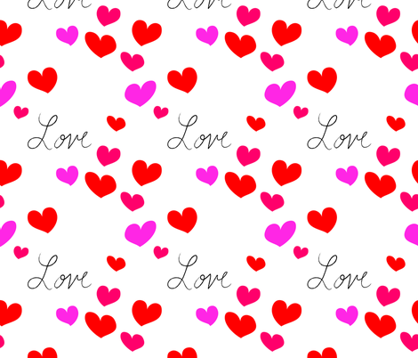 Love is like hearts fabric by empireruhl on Spoonflower - custom fabric