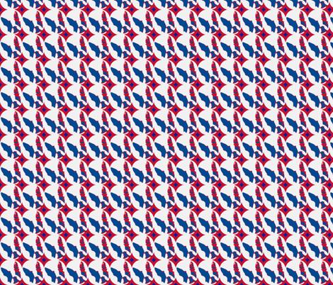 Boston Terrier Americana  fabric by missyq on Spoonflower - custom fabric