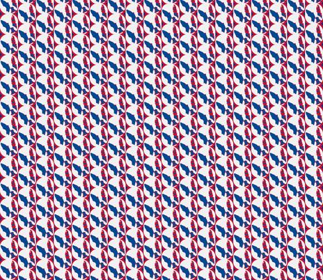 Boston Terrier Americana -Half drop fabric by missyq on Spoonflower - custom fabric