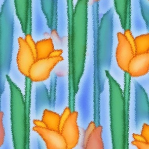 Misty Tulips