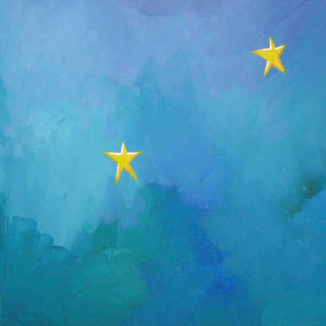 Painted_Stars fabric by karenmayo on Spoonflower - custom fabric