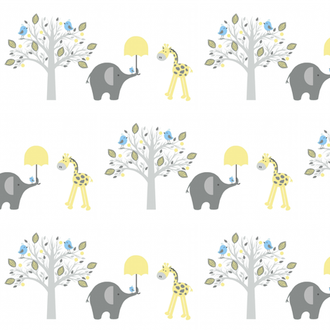Happy chat friends / giraffe fabric by paragonstudios on Spoonflower - custom fabric