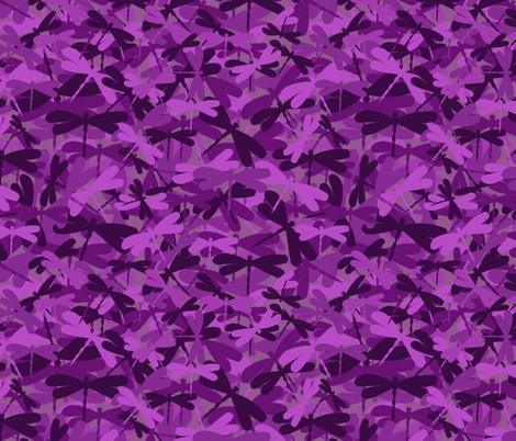 Dragonflyge - dark purple fabric by uzumakijo on Spoonflower - custom fabric