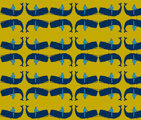 rescue_save_the_whale_knight-ch fabric by koffeycakes on Spoonflower - custom fabric