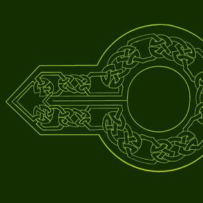 open border 2 collar green