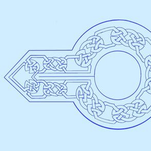 open border collar blue