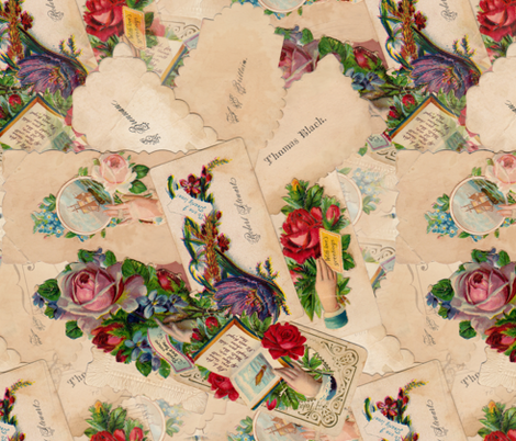Heart in Hand fabric by peacoquettedesigns on Spoonflower - custom fabric
