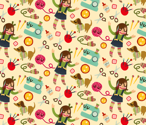 Crafty Girl fabric by jordan_elise on Spoonflower - custom fabric