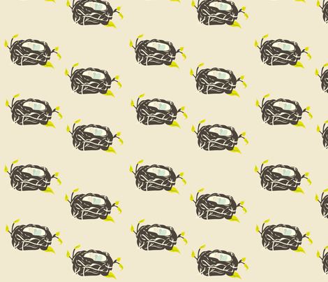 Nesting Instinct on pale background fabric by featheredneststudio on Spoonflower - custom fabric