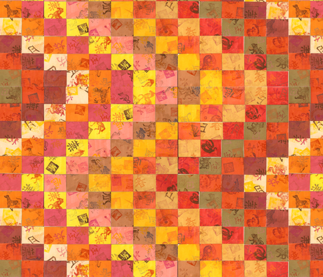 Bargello Collage fabric by Hazelhills on Spoonflower - custom fabric