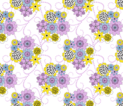 Flowers for Jimmy wht fabric by deesignor on Spoonflower - custom fabric