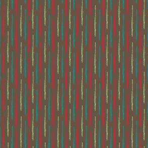 Multi Color Flutes on Brown