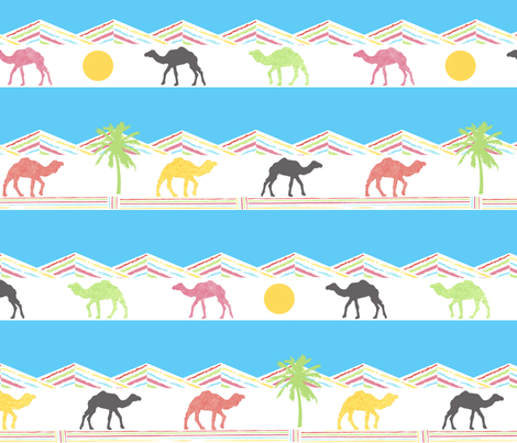 Cool Camels fabric by mandyd on Spoonflower - custom fabric
