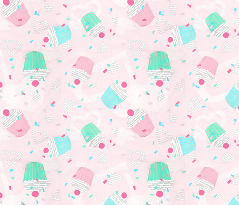 cupcake cutout fabric by minimiel on Spoonflower - custom fabric