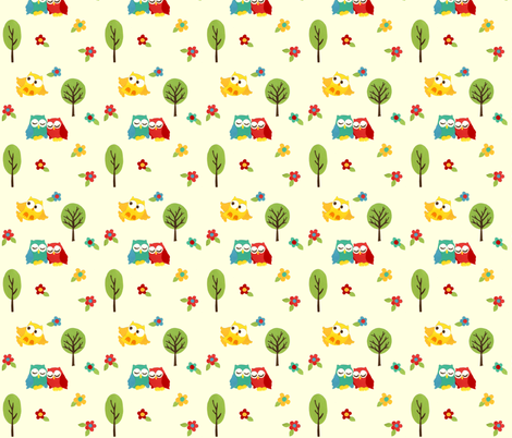 paper_owls fabric by mytinystar on Spoonflower - custom fabric