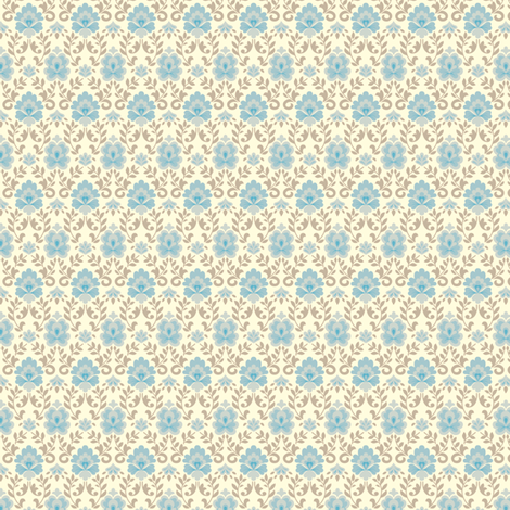 funnybunny.se background - blue fabric by helena on Spoonflower - custom fabric