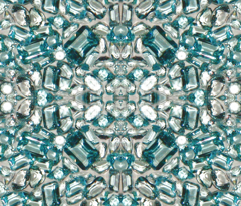 Swiss blue / White Topaz  fabric by paragonstudios on Spoonflower - custom fabric
