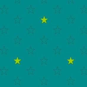 stars on heaven petrol green