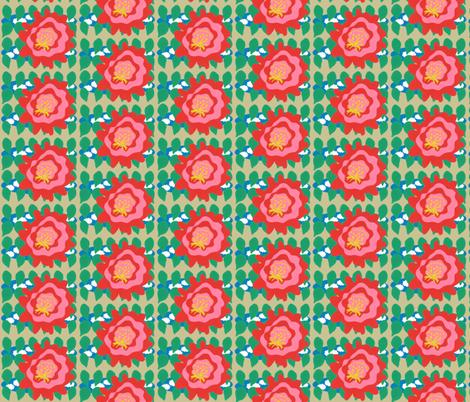 Cactus Bloom fabric by owlandchickadee on Spoonflower - custom fabric
