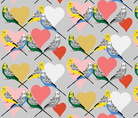 Love Budgies - 5 fabric by owlandchickadee on Spoonflower - custom fabric