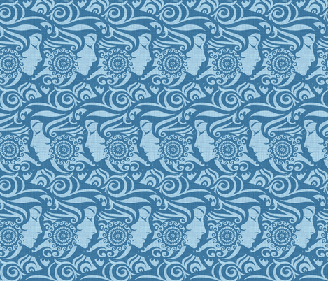 Blue Denim Diva fabric by spellstone on Spoonflower - custom fabric