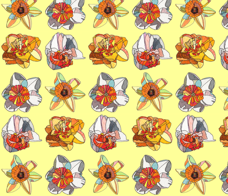 daffodils in yellow fabric by aprilmariemai on Spoonflower - custom fabric
