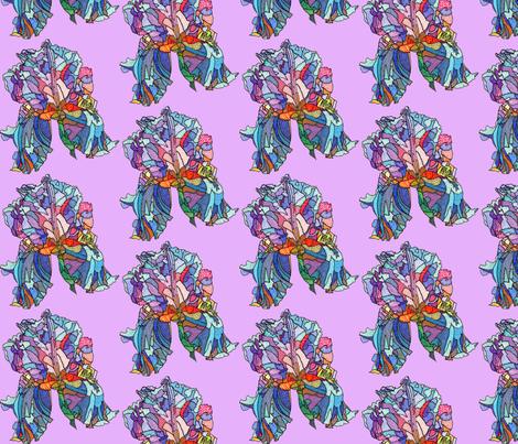 iris in purple fabric by aprilmariemai on Spoonflower - custom fabric