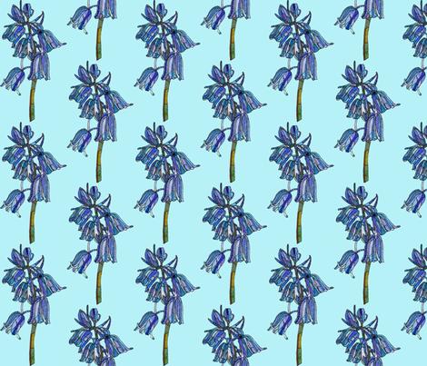 bluebell in light blue fabric by aprilmariemai on Spoonflower - custom fabric