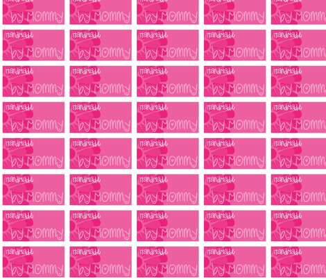 Pink Mommy Label fabric by jnifr on Spoonflower - custom fabric
