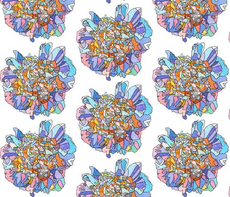 white peony in white fabric by aprilmariemai on Spoonflower - custom fabric