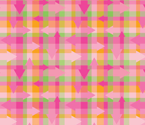 Pointy Pink Plaid fabric by coloroncloth on Spoonflower - custom fabric