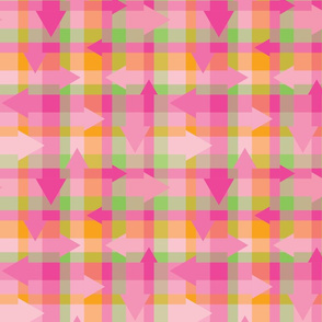 Pointy Pink Plaid