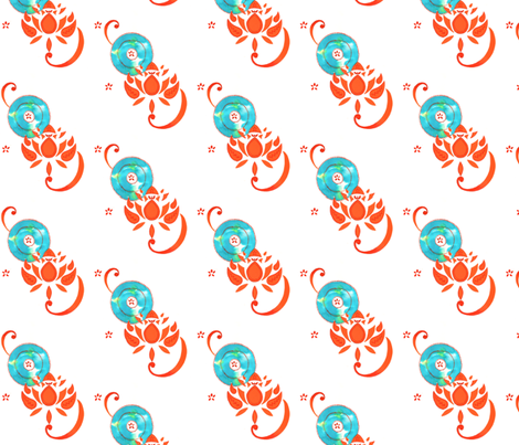 Lotus fabric by caitieillustrates on Spoonflower - custom fabric
