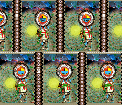 Dance in the Desert of Tawa Kachina-ed fabric by paragonstudios on Spoonflower - custom fabric
