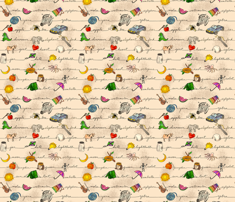 ABC Fabric for Children fabric by amy_lou_who on Spoonflower - custom fabric