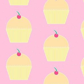 Cupcake Butterscotch on Pink