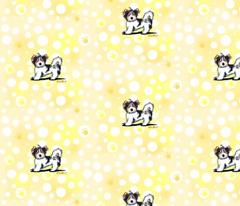 Banana Cream Biewer Yorkie Terriers fabric by kiniart on Spoonflower - custom fabric