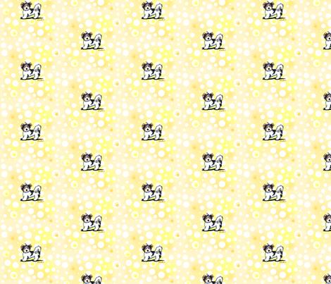 Small Banana Cream Biewer Yorkies fabric by kiniart on Spoonflower - custom fabric