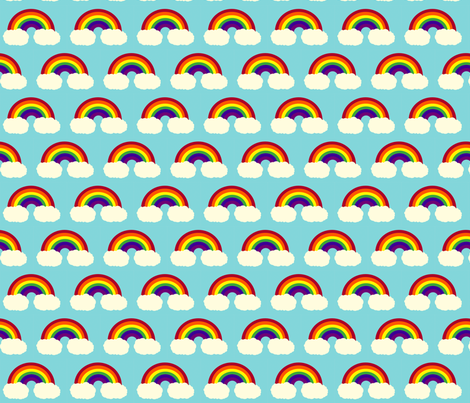 Rainbow Delight fabric by monique_lula on Spoonflower - custom fabric