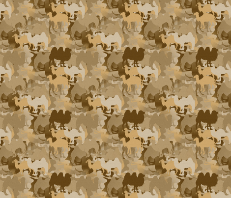 Camelflage fabric by peacoquettedesigns on Spoonflower - custom fabric