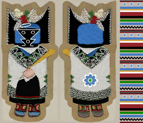 "17"" Kachina Rag Doll or Pillow fabric by paragonstudios on Spoonflower - custom fabric"