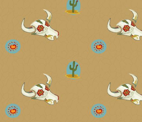 abundant_desert_life fabric by polka_jen on Spoonflower - custom fabric