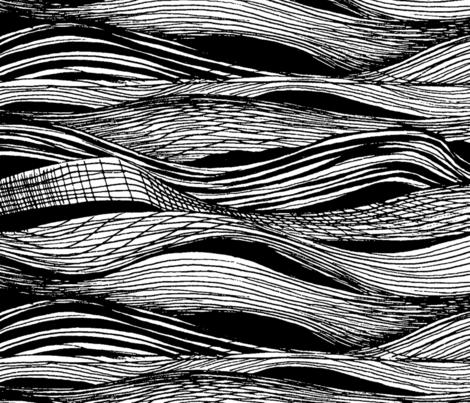 large_waves fabric by hollishammonds on Spoonflower - custom fabric