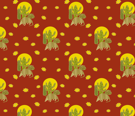 armadillos rock fabric by deesignor on Spoonflower - custom fabric