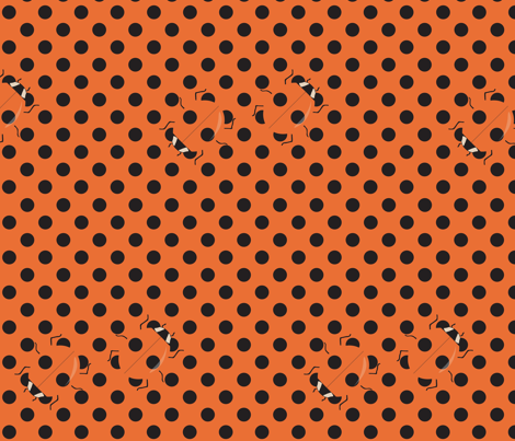 Coccinellid Camouflage fabric by sammyk on Spoonflower - custom fabric